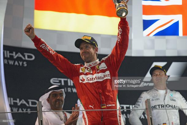 Vettel ended 2016 with a podium in Abu Dhabi. | Photo: Getty Images.Rainer W. Schlegelmilch