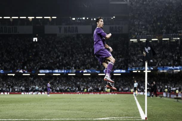 Um dos gols mais importantes dessa trajetória, na final da Champions 2016/17 | Foto: David Ramos/Getty Images