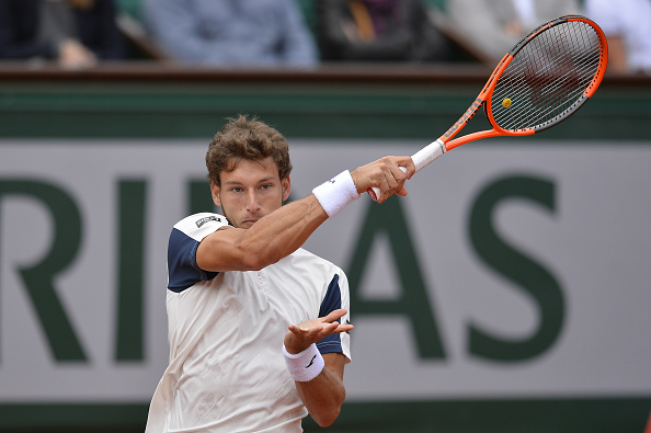 Pablo Carreno in action French Open before retiring against Rafaerl Nadal (Photo: Aurelien Meunier/Getty Images)