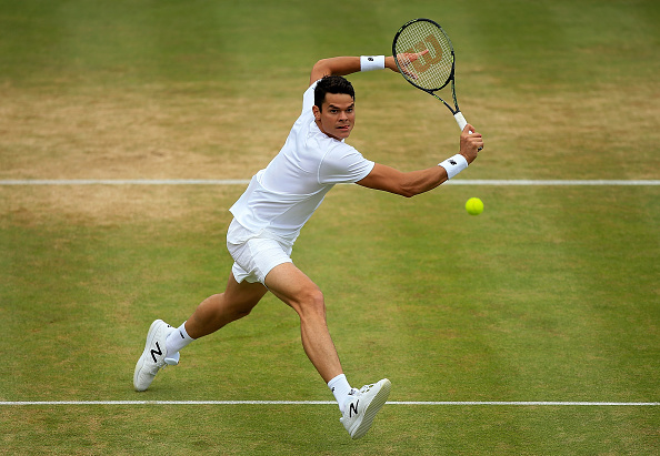 Milos Raonic during the final (Photo: Ben Hoskins/Getty Images)