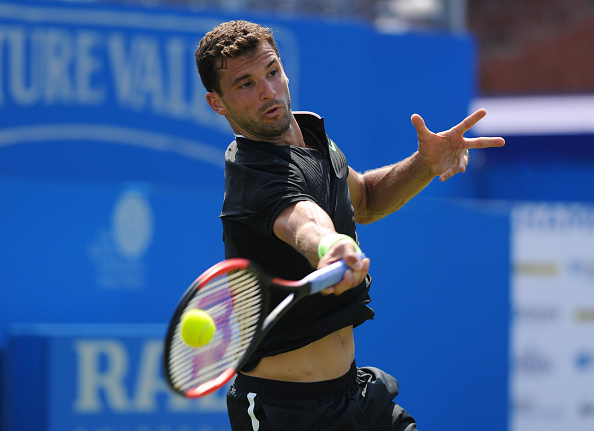 Grigor Dimitrov hits a forehand (Photo: Ashley Western/Getty Images)
