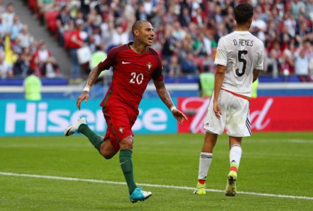Quaresma marcou o primeiro gol da equipe das Quinas na Copa das Confederações (Foto: Ian Walton/Getty Images)