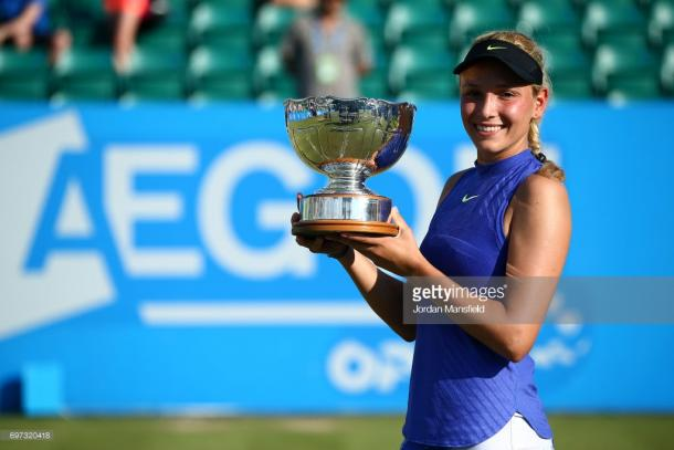 Donna Vekić won the WTA International AEGON Open last year. (picture: Getty Images / Jordan Mansfield)