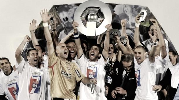 Última liga conseguida por el Olympique de Lyon en 2008 | Foto: Página web Olympique de Lyon