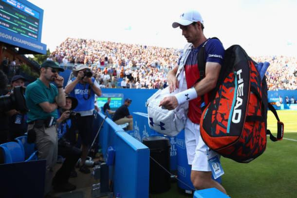 Andy Murray following his first round loss to Jordan Thompson at Queens (Getty/Clive Brunskill)