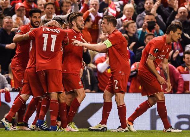 Il Liverpool esulta dopo il successo sul Villarreal. Fonte: Ansa/EPA.