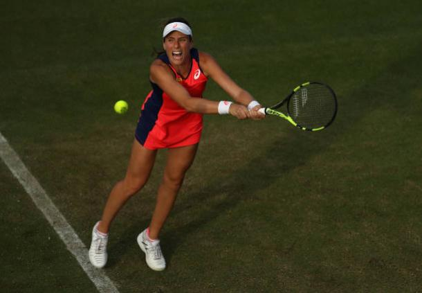 Johanna Konta did not have any success in her return games today (Getty/Julian Finney)