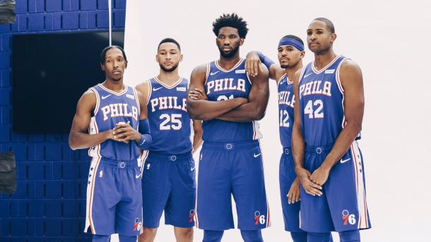 PlNTILLA 76ERS 2019-2020. Vía: NBA