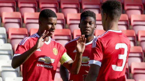 Rashford and Fosu-Mensah made the breakthrough to the first-team this season (Photo: Getty Images)