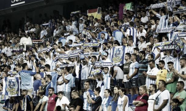 Afición en la Rosaleda | Foto: Málaga CF.