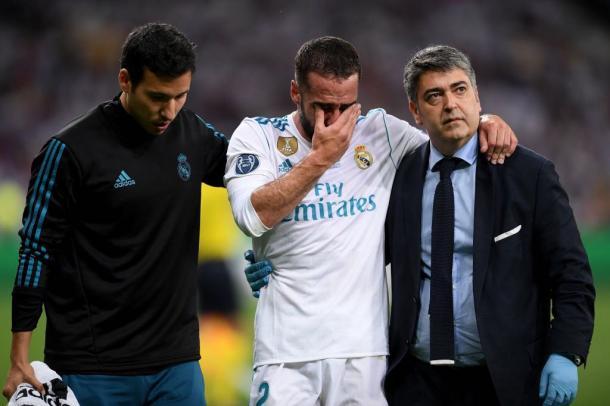 Carvajal tiene riesgo de no acudir a Rusia. Fuente: UEFA Champions League.