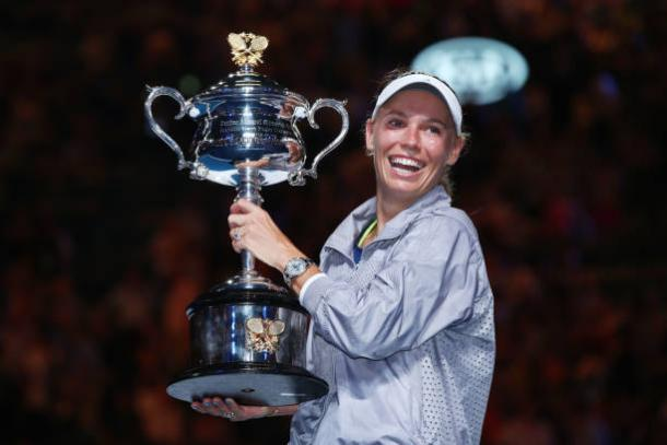 Wozniacki, 2018 Australian Open women's singles winner. Photo: Clive Brunskill