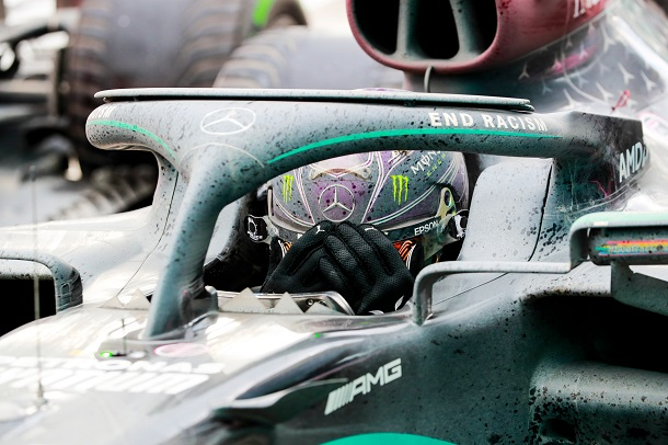 Lewis Hamilton en el Parc fermé. Fuente: Mercedes