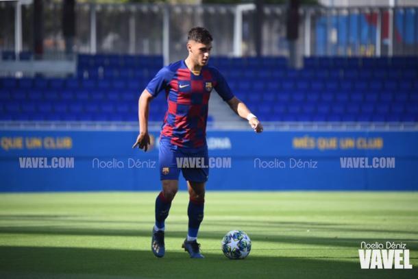 Nils Mortimer, jugador del Juvenil A del FC Barcelona. FOTO: Noelia Déniz