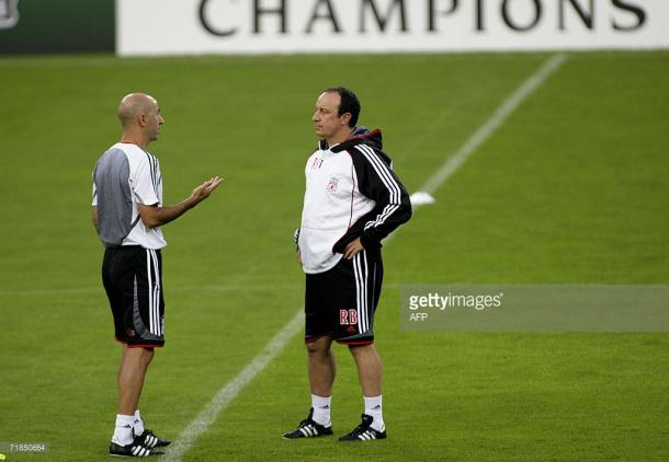 Ayestaran (L) was very successful as Rafa Benitez's number two | Photo: Getty/AFP