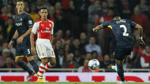 Southampton beat Arsenal 2-1 at the Emirates in the League Cup in 2014. Photo: Getty.