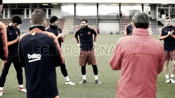 Aplausos a Leo Messi por su reciente paternidad | Foto del Fútbol Club Barcelona