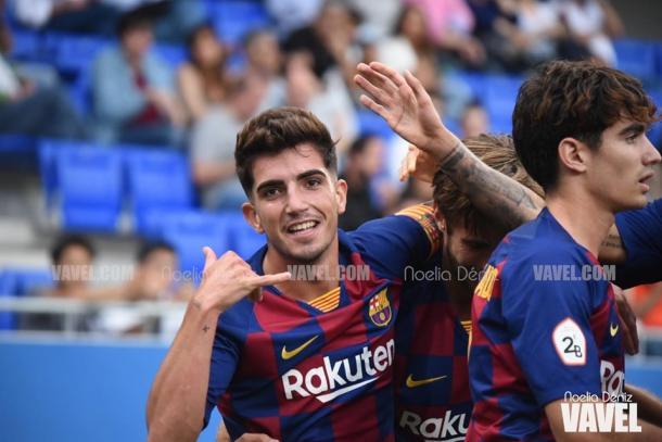 El FC Barcelona B celebrando un gol. FOTO: Noelia Déniz