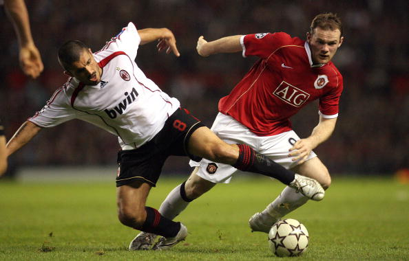 Gattuso battles Wayne Rooney in the UEFA Champions League back in 2007 (photo:getty)