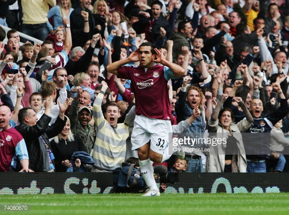 Above: Carlos Tevez during his time with West Ham United | Photo: Getty Images