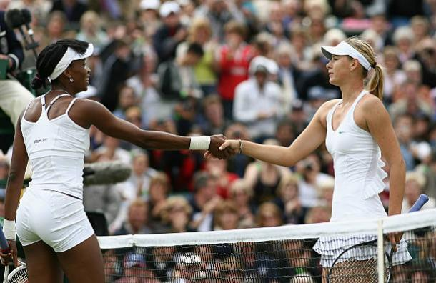 Venus Williams and Maria Sharapova faced off at Wimbledon back in 2007 (Getty/Clive Brunskill)