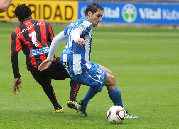 Salcedo, en la 2011-2012  |  Fotografía: Deportivo Alavés