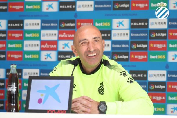 Abelardo Fernández en rueda de prensa   Foto: RCD Espanyol