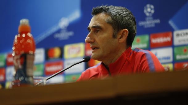 Valverde en rueda de prensa / Foto: Barcelona