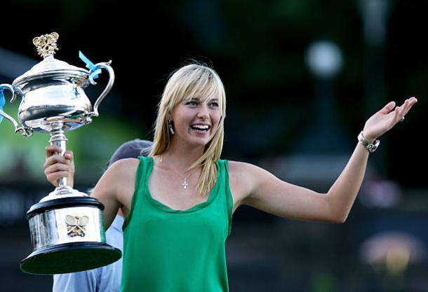 Sharapova won her sole Australian Open title ten years ago (Getty/Mark Dadswell)