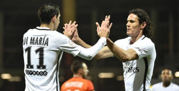 Il Paris Saint Germain torna a vincere: battuto 1-2 il Lorient grazie al solito Cavani