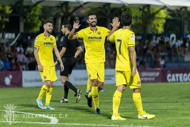 Albiol celebrando un gol / Foto: Villarreal C.F.
