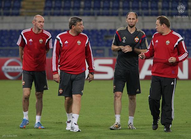 Onopko hoy en el cuerpo técnico del CSKA Moscú. Fuente: cska.com