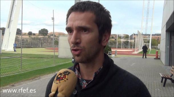Aitor Lopez Rekarte en la Federación. Foto: Real Federación Española de Fútbol