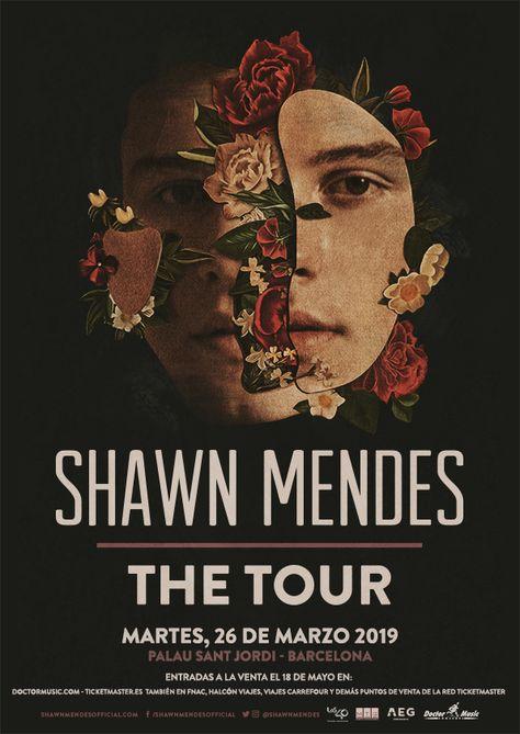 Cartel Oficial del concierto de Shawn Mendes en Barcelona
