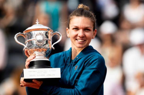 Halep, 2018 French Open women's singles winner. Photo: Fred Lee