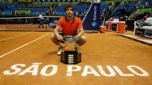 Pablo Cuevas has won the last three Brazil Open titles, starting here in 2015. Photo: ATP World Tour
