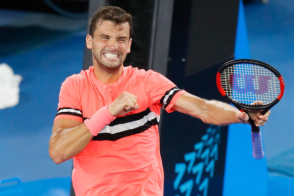 Grigor Dimitrov, seen here at the Australian Open, will be the top seed in Dubai this year. Photo: Darrian Traynor/Getty Images