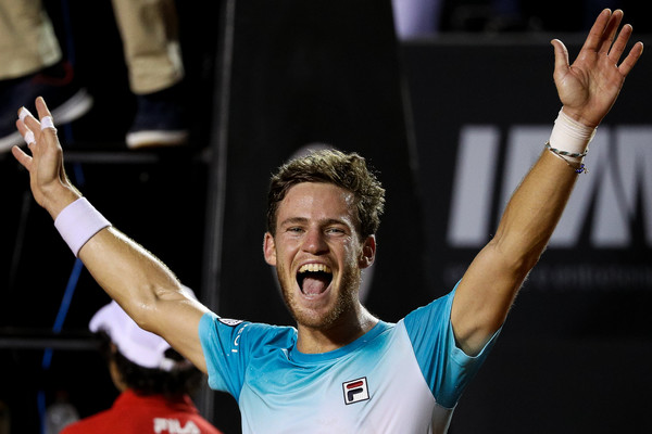 Schwartzman celebrates his victory in Rio. Photo: Buda Mendes/Getty Images