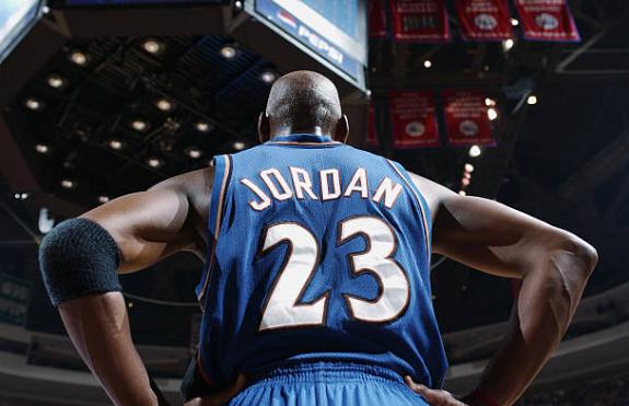 Imagen histórica de Michael Jordan con los Wizards | Foto: Getty Images