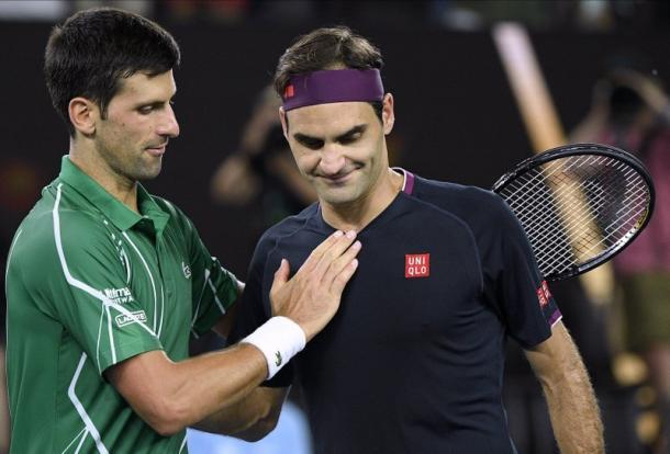 El último partido disputado por Federer fue la semifinal del Australian Open ante Novak Djokovic. Luego de eso, una exhibición ante Rafael Nadal en Sudáfrica. Imagen: AP.