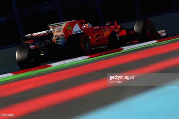 Vettel struggled with hydraulics. | Photo: Getty Images/Clive Rose