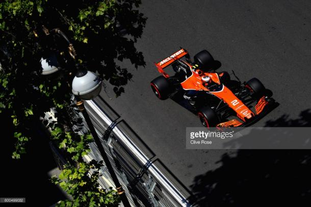 Vandoorne (pictured) and Alonso will have grid penalties. | Photo: Getty Images/Clive Rose
