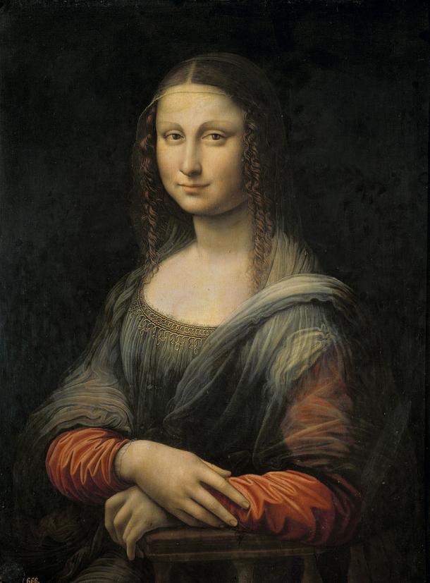 Aspecto de la Mona Lisa del Prado antes de la restauración y descubrimiento del paisaje. ®Museo del Prado.