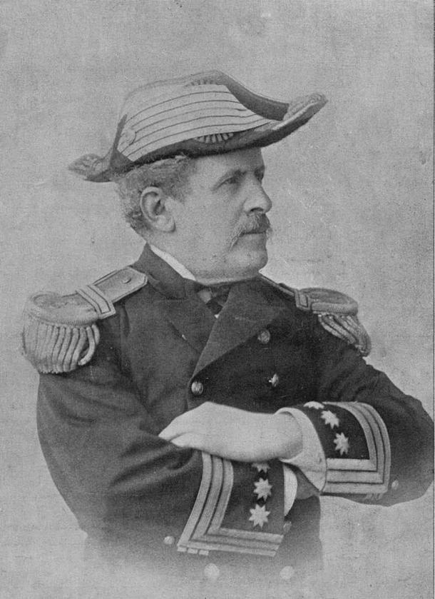 El Capitán de Navío Fernando Villaamil en un retrato de 1897 (Wikipedia, DP)