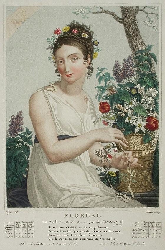 Alegoría del mes Floreal (1794), por Louis Lafitte (1770-1828). PD.
