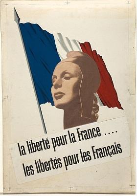 Alegoría de la Marianne en 1940. The National Archives (Reino Unido). PD.