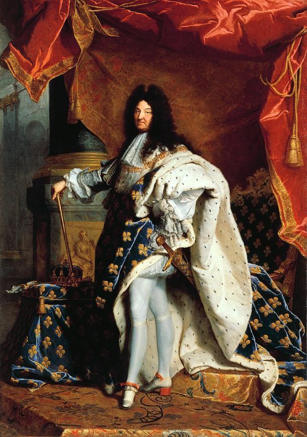 Retrato de Luis XIV (1701), por Hyacinthe Rigaud (Wikipedia, DP)