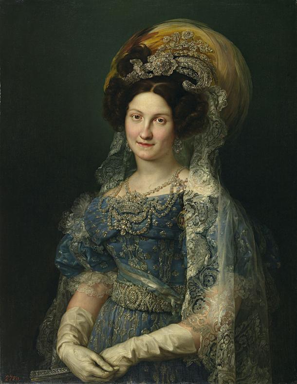 Retrato de la reina María Cristina de Borbón-Dos Sicilias (1830), de Vicente López Portaña (Wikipedia, PD)