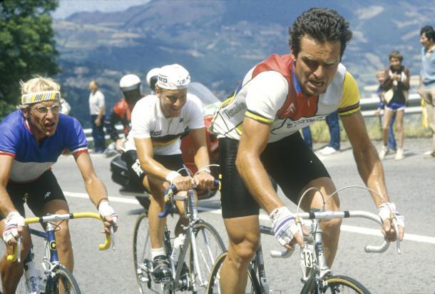 Hinaul y Fignon, en el Tour de Francia. | Foto: Pinterest
