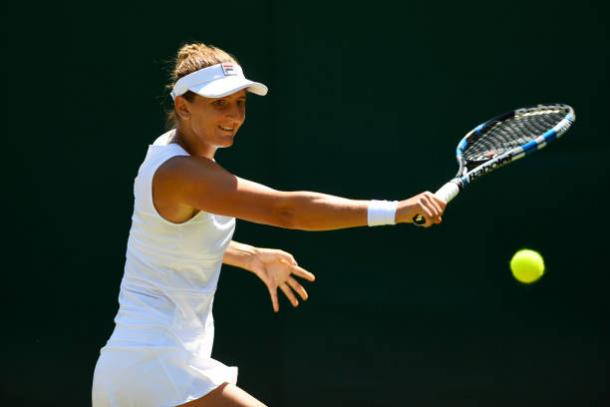 Irina-Camelia Begu in action at Wimbledon last year (Getty/Shaun Botterill)